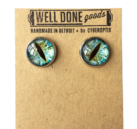 Glass Eye Taxidermy Eyeball Earrings, Small Studs