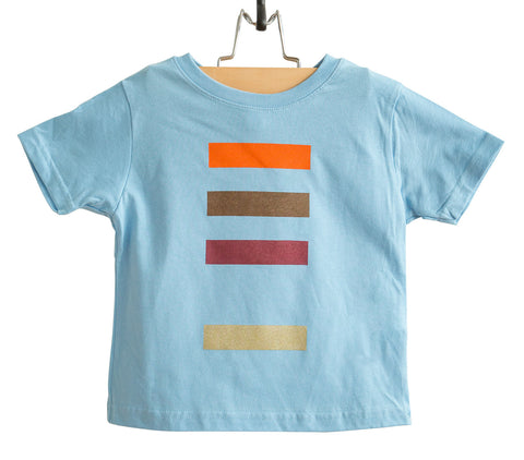 Resistor Code Light Blue Toddler T-Shirt, 4 Color Bands, Well Done Goods