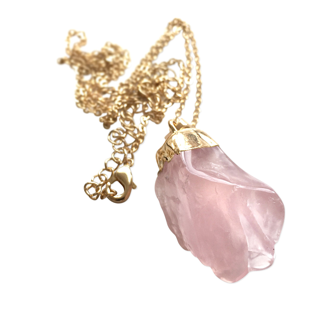 Completely new Rose Quartz Crystal Necklace, by Well Done Goods CP43