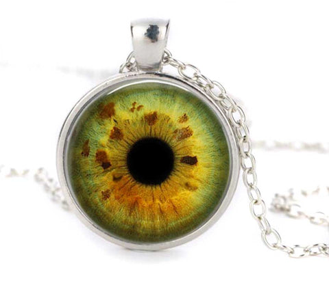 Glass eye necklace taxidermy eyeball pendant aloadofball Choice Image