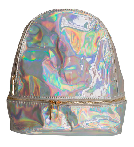 Shiny Iridescent Mini Backpack, Well Done Goods
