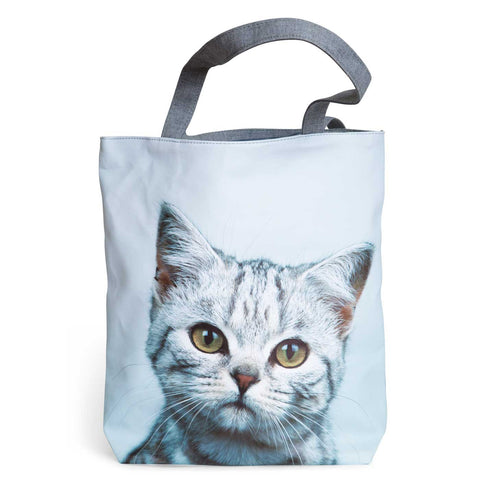 Kitty Cat Silver Tote Bag, Well Done Goods