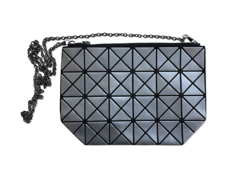 Articulated Flexible Geometric Clutch Purse
