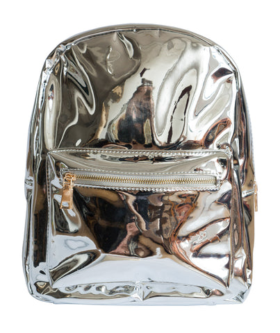 Silver Metallic Mini Backpack, Well Done Goods