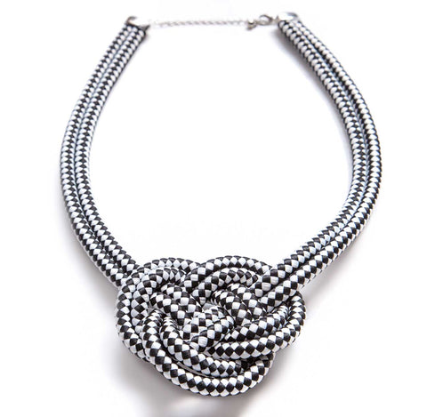 Single Knot Woven Rope Statement Necklace