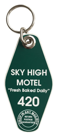 Sky High Motel, Room 420 Motel Style Keychain, Well Done Goods