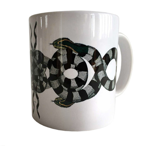 Albertus Seba Snake Print Mug, Natural History Coffee Cup. Well Done Goods