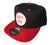 Sorry Mom Snapback Cap, black and red. Well Done Goods