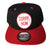 Sorry Mom Snapback Baseball Hat, black and red. Well Done Goods