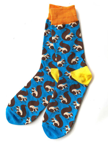 Squirrel Print Men's Socks, Well Done Goods