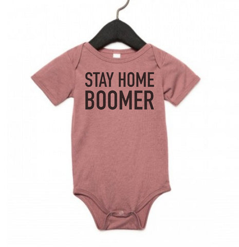 Stay Home Boomer, Baby One-Piece Jumpsuit