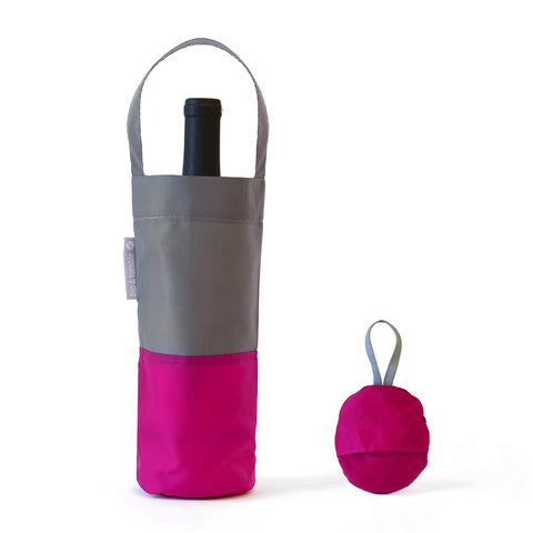 Flip and Tumble Reusable Hot Pink Wine Bag, by Well Done Goods