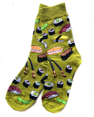 Sushi Socks for Women, Green