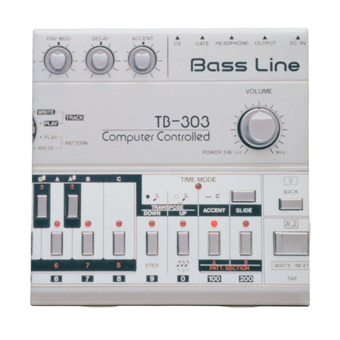 303 Bass Synth Drink Coaster, Decorative Tile