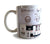 303 Printed Mug, Vintage Bass Synthesizer Coffee Cup. Well Done Goods by Cyberoptix