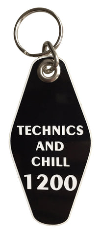 Technics and Chill, Room 1200 Motel Style Keychain, Well Done Goods