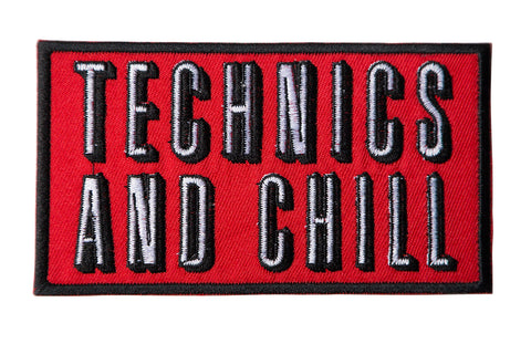 Technics and Chill Iron-on Embroidered Patch, Well Done Goods