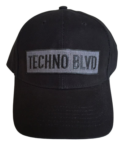 Techno Blvd Structured Curved Bill Cap, Tactical Black Patch, Well Done Goods