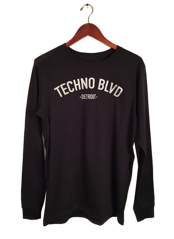 Techno Blvd Long Sleeve Shirt, black, well done goods by cyberoptix