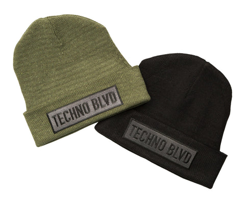 Techno Blvd Beanie Cap Hats, Well Done Goods