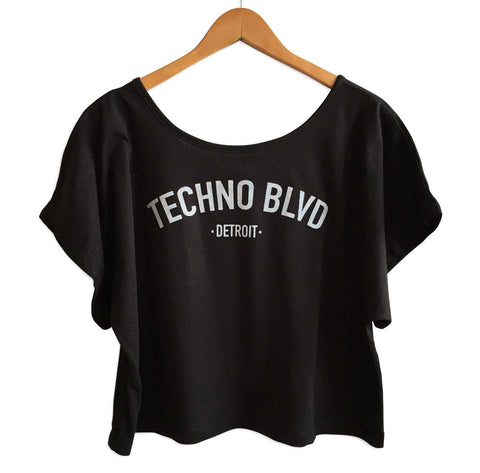Techno Blvd Black Crop Top, Well Done Goods