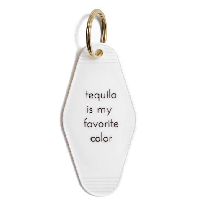 tequila is my favorite color keychain 7f0cdb0ded49