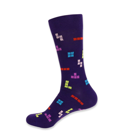 Tetris Socks. Men's Fancy Socks, by Parquet.
