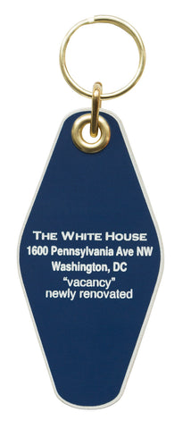 White House Motel Style Keychain, Well Done Goods