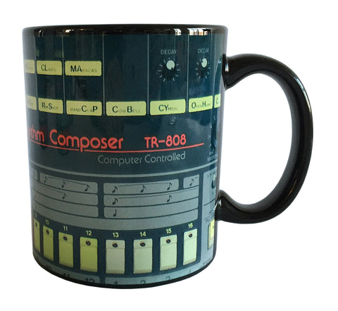 TR-808 Mug, Drum Machine Coffee Cup. Well Done Goods by Cyberoptix