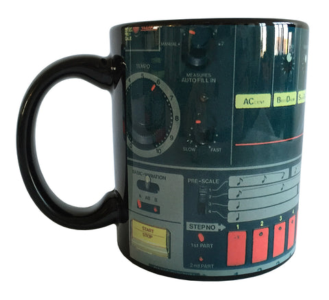 TR-808 Mug, Drum Machine Coffee Cup - Well Done Goods, by Cyberoptix