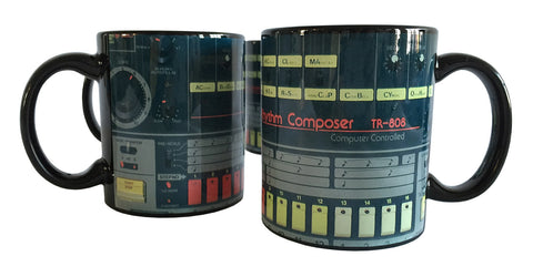 TR-808 Mugs, Drum Machine Coffee Cups. Well Done Goods by Cyberoptix