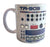 TR-909 Mug, Vintage Drum Machine Coffee Cup. Well Done Goods by Cyberoptix