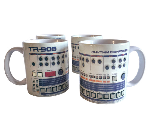 TR-909 Mugs, Drum Sequencer Coffee Cups. Well Done Goods by Cyberoptix