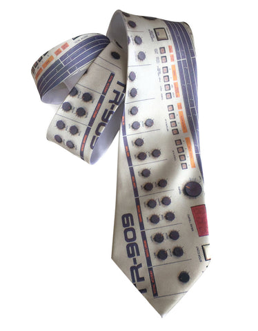 909 Drum Machine Necktie, Full Color Print