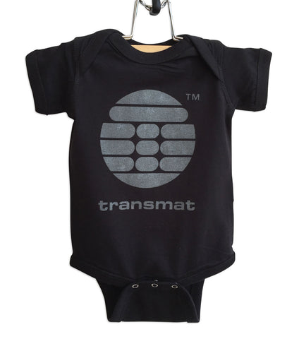 Transmat Logo Black Baby Onesie, Transmat Records, Well Done Goods