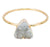Tiny Triangle Milky White Quartz Druzy Ring, Well Done Goods