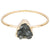Tiny Triangle Smoky Quartz Druzy Ring, Well Done Goods