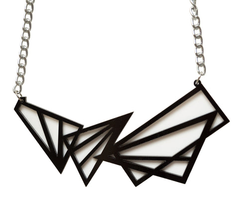 Triangle Geometric Laser Cut Necklace, Well Done Goods