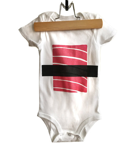 Tuna Sushi Baby Onesie, Maguro Nigiri Print Creeper. Well Done Goods by Cyberoptix