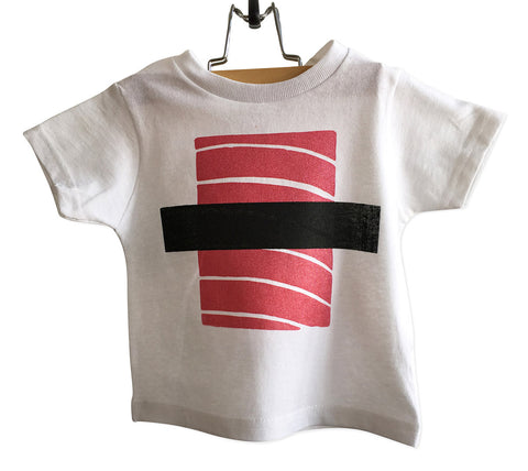 Tuna Sushi Toddler T-Shirt, Maguro Nigiri Print. By Well Done Goods