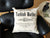 Turkish Baths 100% cotton silkscreened throw pillow, Well Done Goods