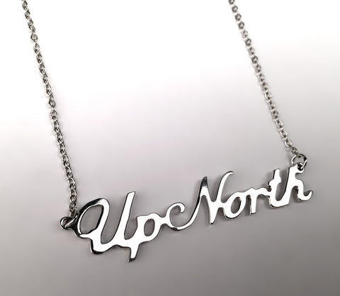 Up North Necklace, Michigan Script Pendant