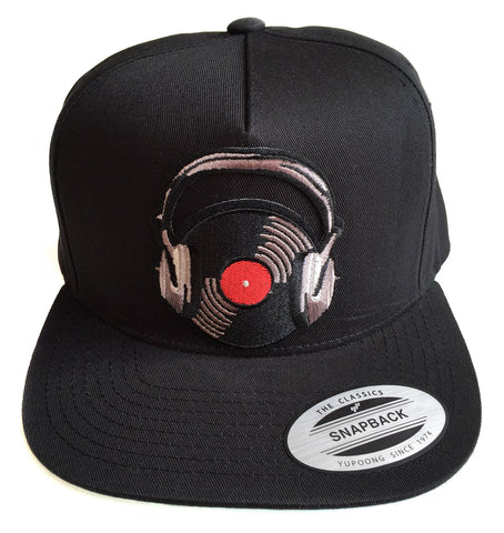 Vinyl Record Black Snapback Cap, Well Done Goods
