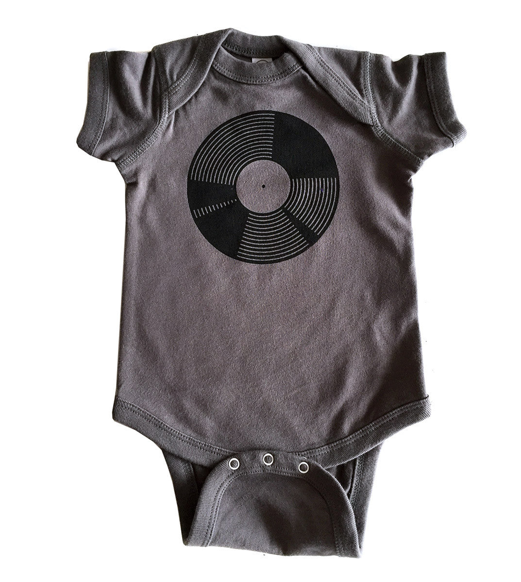 Vinyl Record Baby Snapsuit Well Done Goods