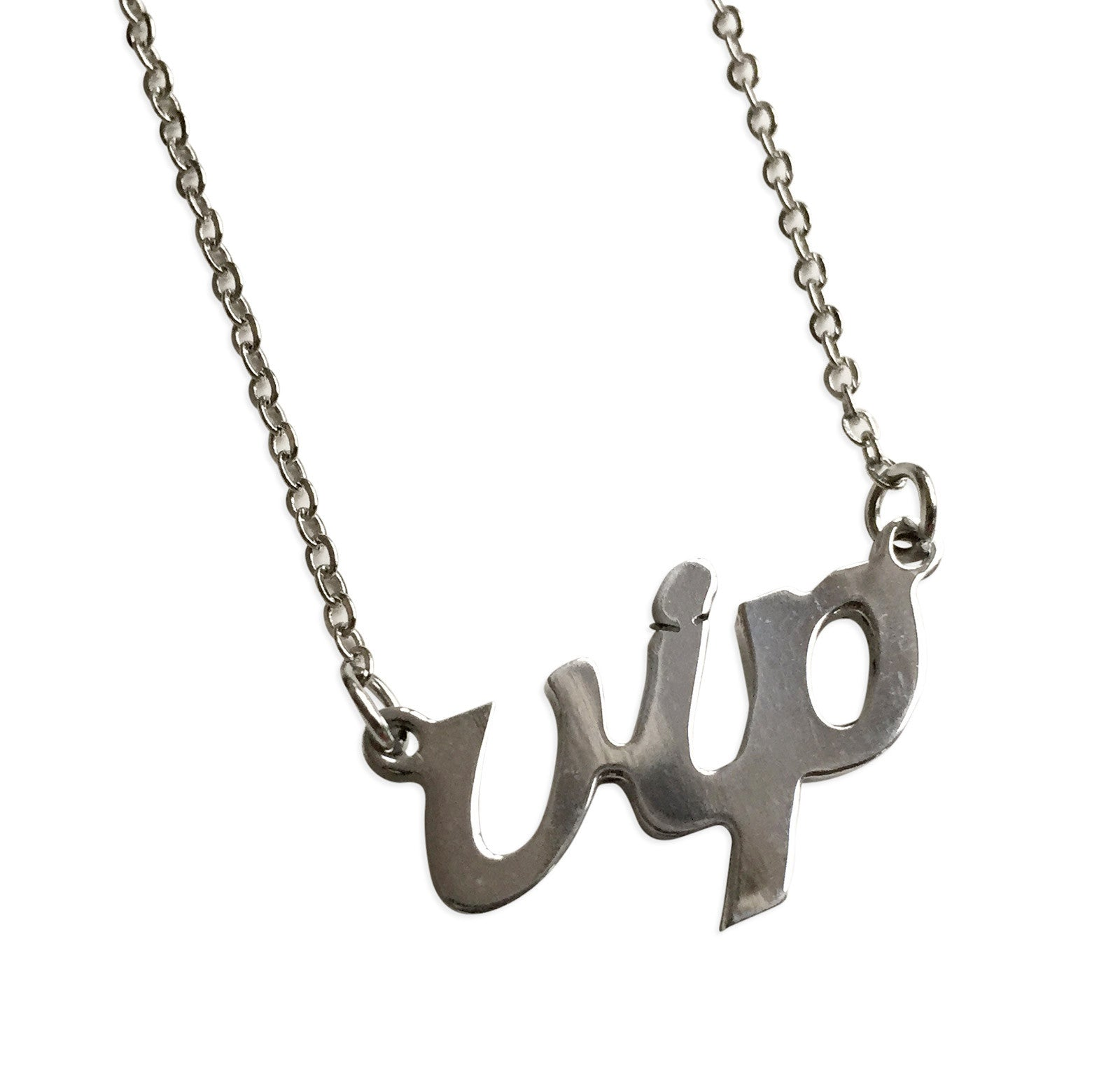goods script done genre silver pendant nameplate well products music necklace web vip