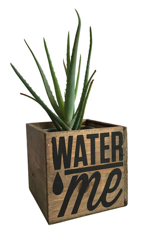 Water Me Reclaimed Wood Planter, Desk Organizer