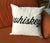 Whiskey Throw Pillow, Script Print. Well Done Goods by Cyberoptix