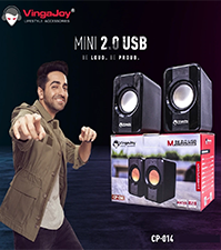 Vingajoy CP-014 | Mini Multimedia Computer Speaker