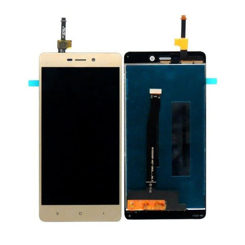 LCD with Touch Screen for Xiaomi Redmi 3S Prime - Gold (display glass combo folder)
