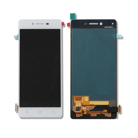 LCD with Touch Screen for Oppo R7 - White (display glass combo folder)